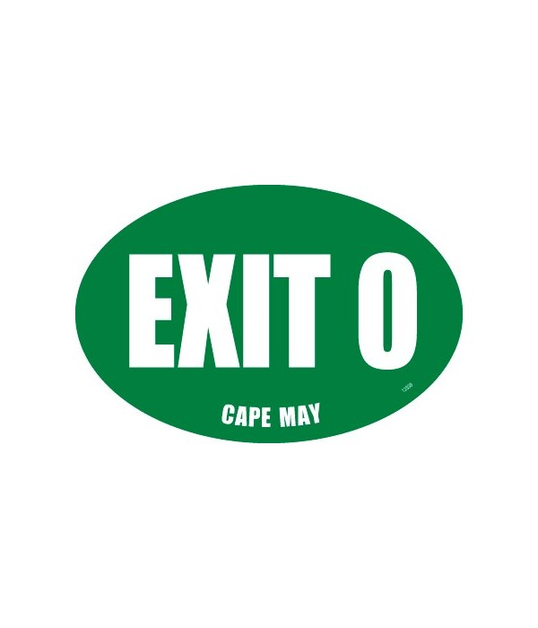 Exit 0 Cape May Oval magnet