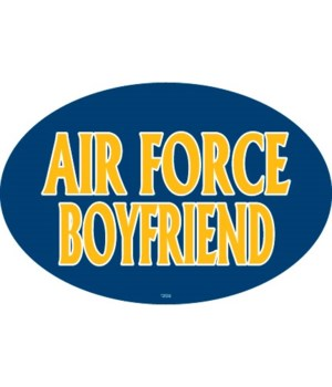 Air Force Boyfriend Oval magnet