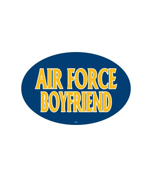 Air Force Boyfriend Oval magnet