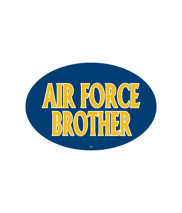 Air Force Brother Oval magnet