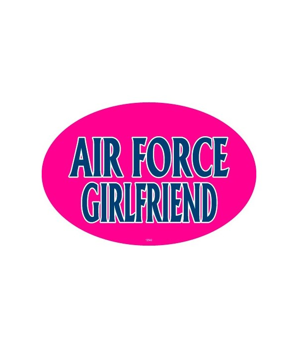 Air Force Girlfriend Oval magnet