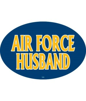 Air Force Husband Oval magnet