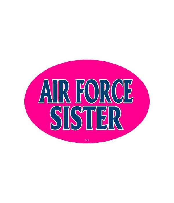 Air Force Sister Oval magnet