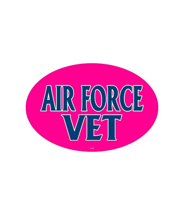 Air Force Vet (female colors) Oval magne