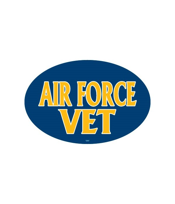 Air Force Vet (male colors) Oval magnet