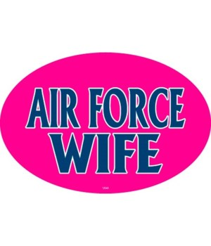 Air Force Wife Oval magnet