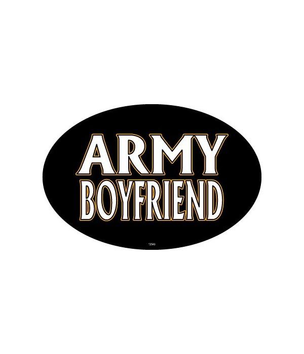 Army Boyfriend Oval magnet