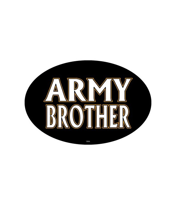 Army Brother Oval magnet