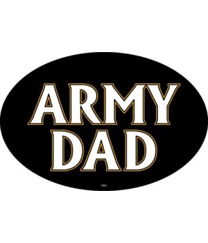 Army Dad Oval magnet