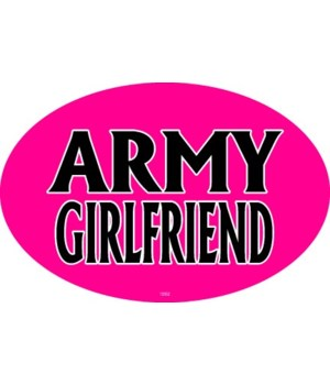 Army Girlfriend Oval magnet