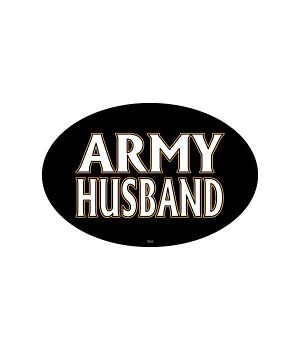 Army Husband Oval magnet