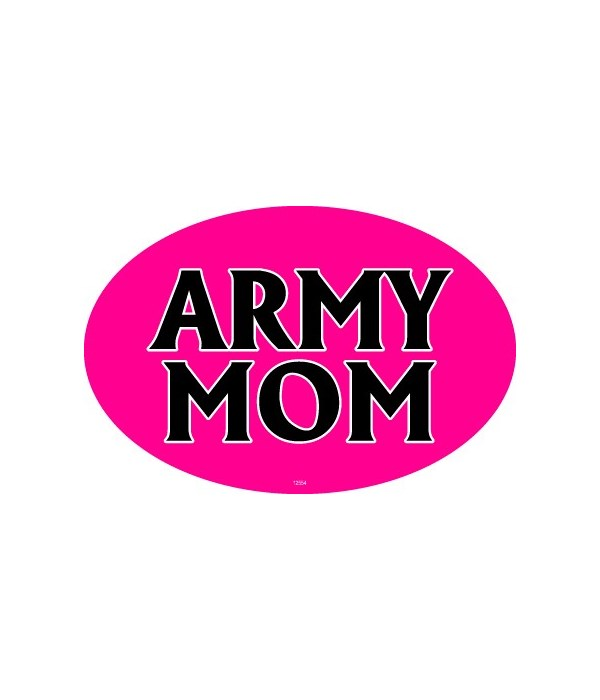 Army Mom Oval magnet
