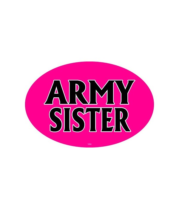 Army Sister Oval magnet