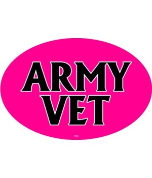 Army Vet (female colors) Oval magnet