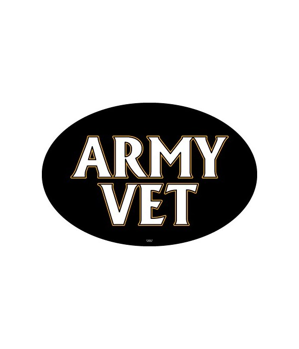 Army Vet (male colors) Oval magnet