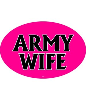 Army Wife Oval magnet