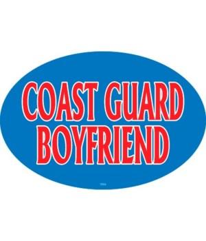 Coast Guard Boyfriend Oval magnet