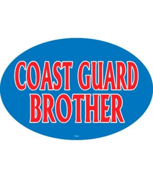Coast Guard Brother Oval magnet