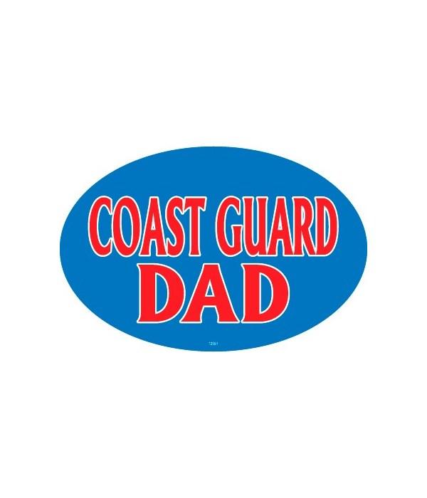 Coast Guard Dad Oval magnet