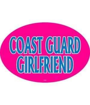 Coast Guard Girlfriend Oval magnet