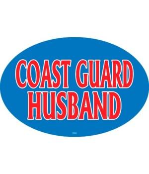 Coast Guard Husband Oval magnet