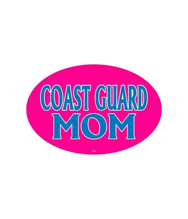 Coast Guard Mom Oval magnet