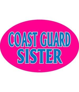 Coast Guard Sister Oval magnet