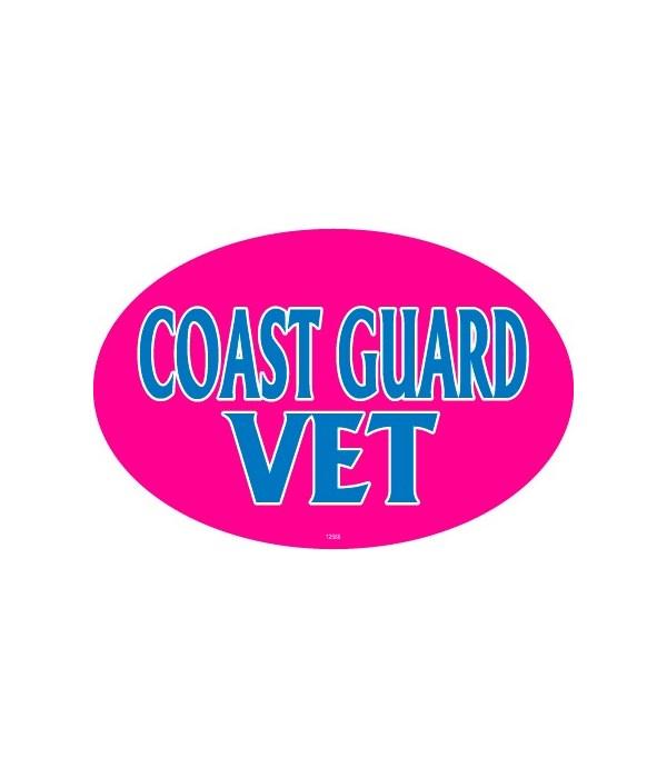 Coast Guard Vet (female colors) Oval mag