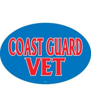 Coast Guard Vet (male colors) Oval magne