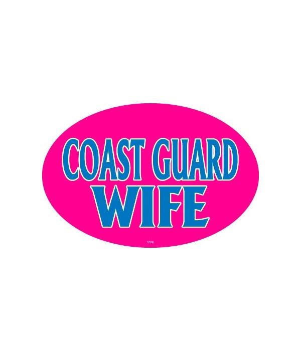 Coast Guard Wife Oval magnet