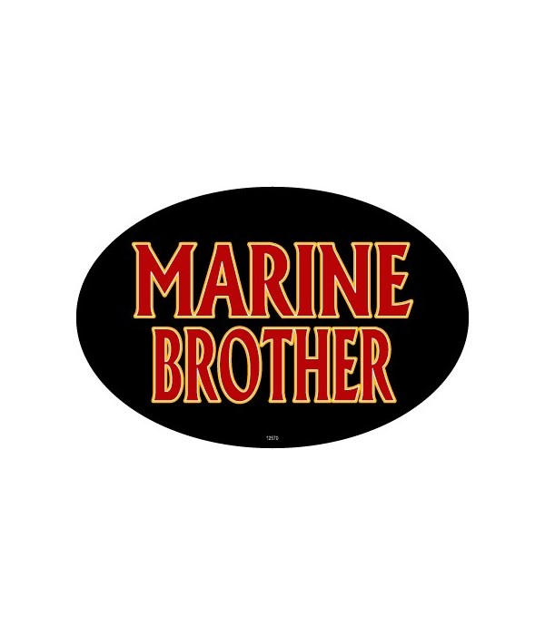 Marine Brother Oval magnet