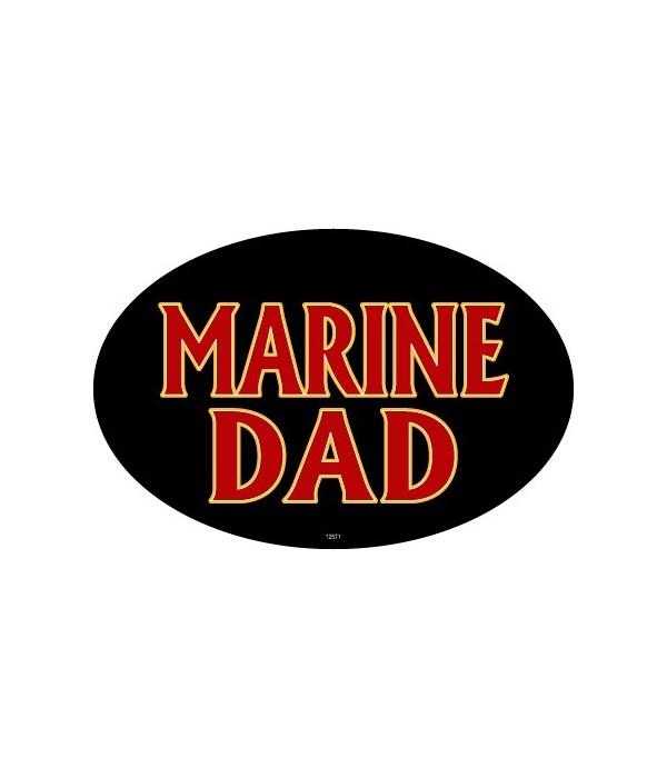 Marine Dad Oval magnet