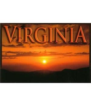 VA Postcard Coastal Sunset