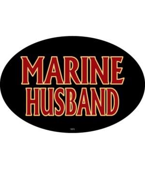 Marine Husband Oval magnet