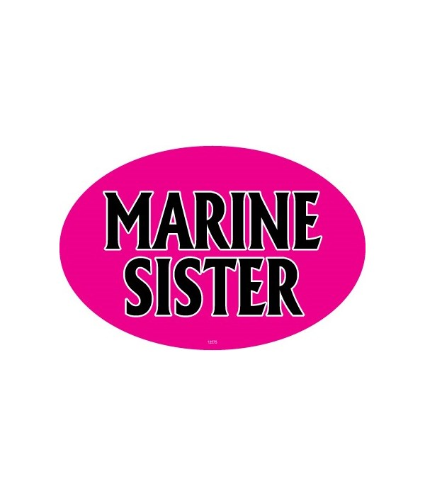 Marine Sister Oval magnet