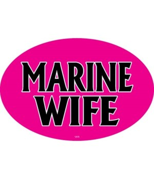 Marine Wife Oval magnet