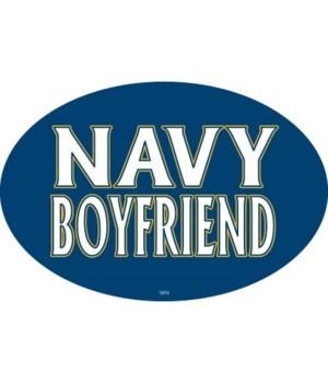 Navy Boyfriend Oval magnet