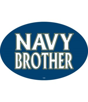Navy Brother Oval magnet