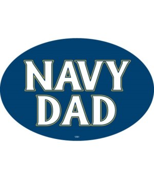Navy Dad Oval magnet