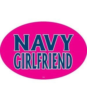 Navy Girlfriend Oval magnet