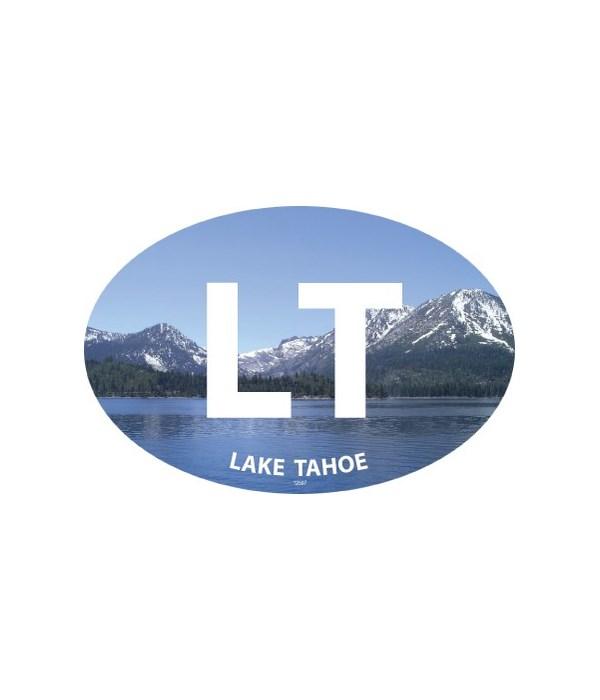 Lake with mountains (destination imprint