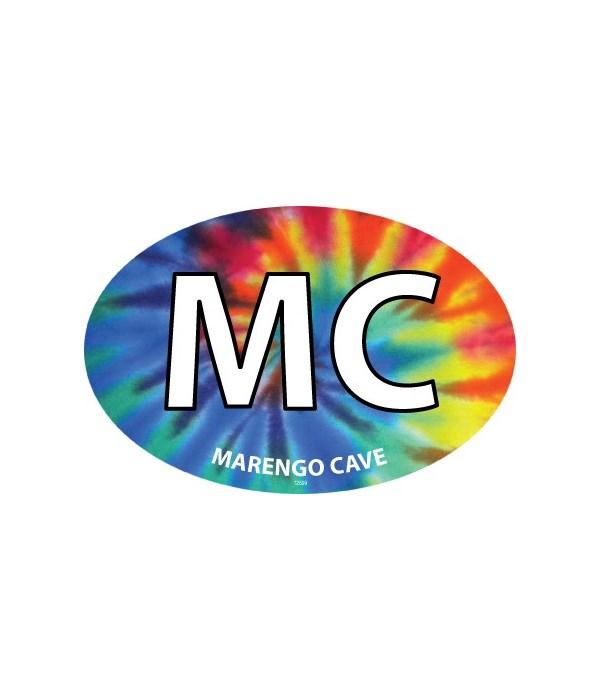 MC–Marengo Cave Tie-Dye Magnet