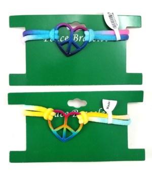 *Heart Shaped Tie-Dye Bracelets