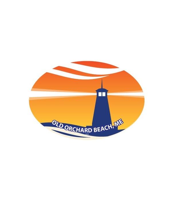 Lighthouse with Orange Background  (dest