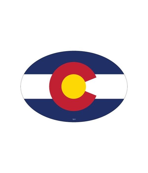 State flag on oval magnet Oval magnet