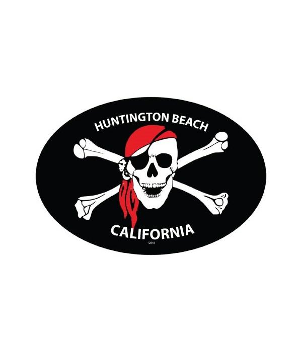 Jolly Roger (skull wearing bandana and c