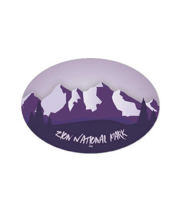 Mountain Design - purple mountain range