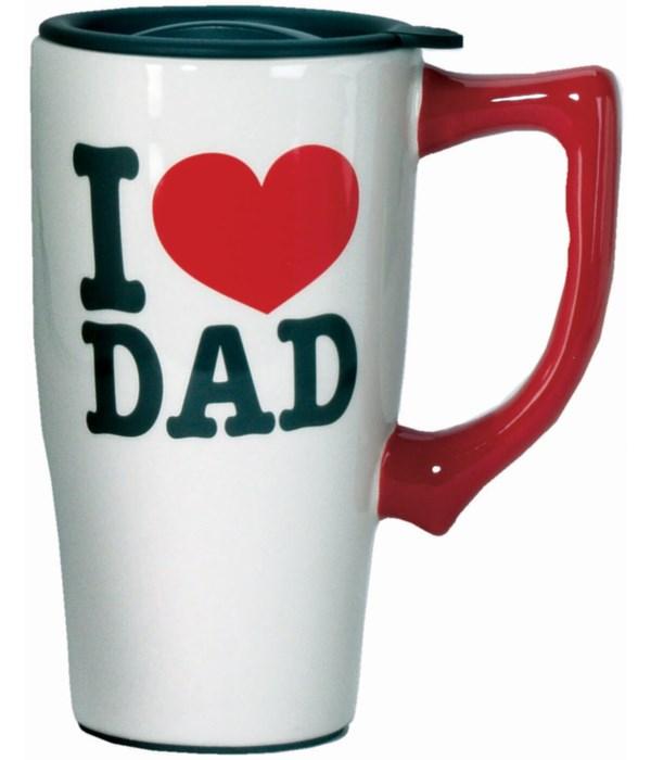 I LOVE DAD TRAVEL MUG