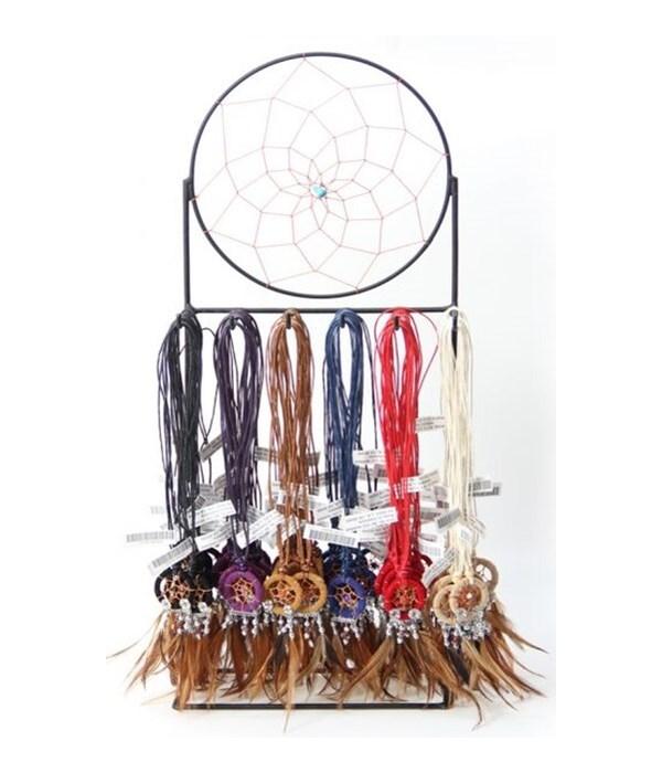 Dreamcatcher Necklaces 72 pc dsp