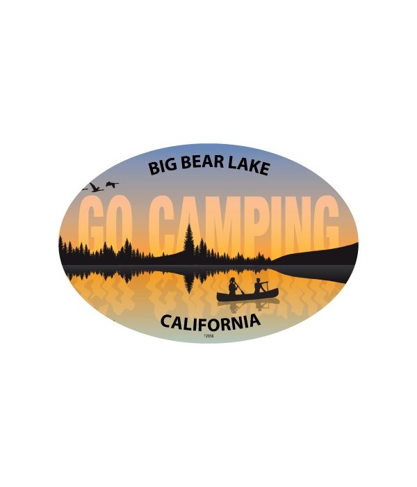 Go Camping Oval magnet